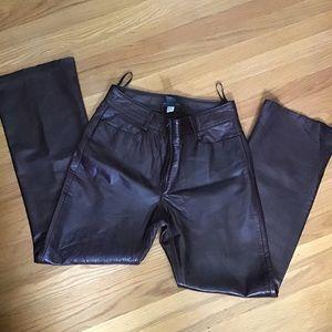 Banana Republic soft leather pants 8